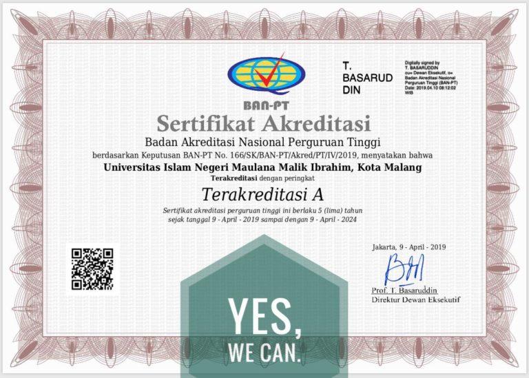 Sertifikat Akreditasi Universitas
